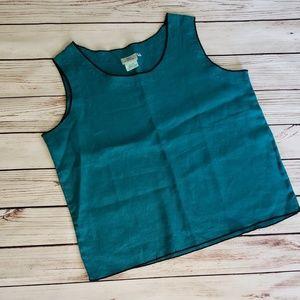 Hot Cotton 100% Linen Shell Blouse Tank Top Medium